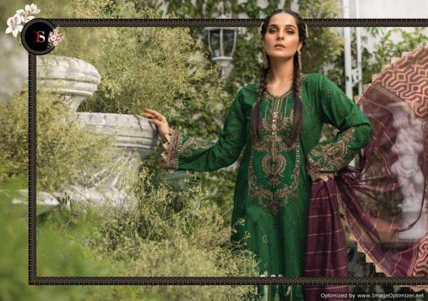 Maria B Lawn-3 Super Nx New Launch Of Heavy Designer Pakistani Salwar Suit With Heavy Embroidery Work
