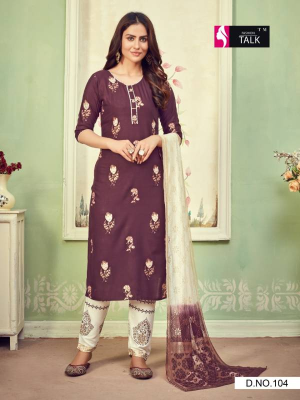Ft Cherry 1 Latest Fancy Designer Ethnic Wear Rayon Foil Printed  Ready Made Salwar Suit Collection