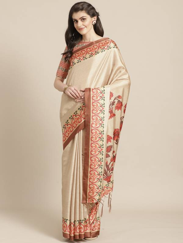 Suman Latest Collection Of Designer Printed Silk Party Wear Saree