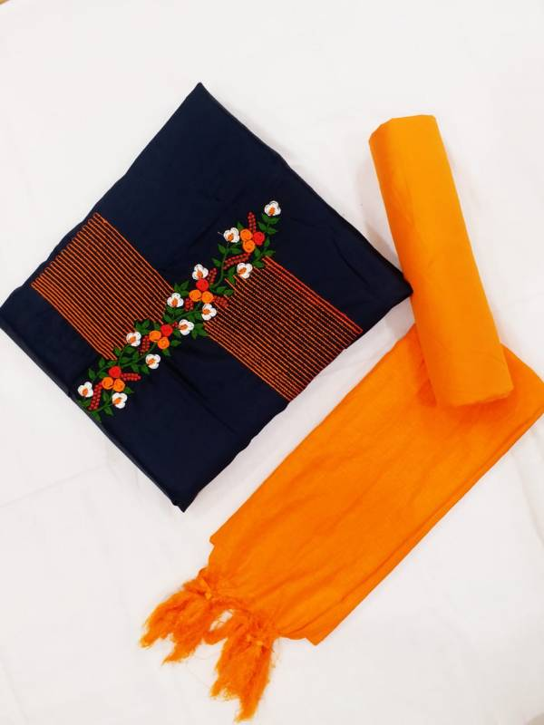 Pc Cotton Latest Designer Casual Wear Cotton With Dupatta Dress Material Collection