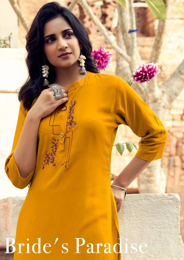 Banwery Mohini Latest Casual Wear Wear Embroidery Work Kurtis Collection