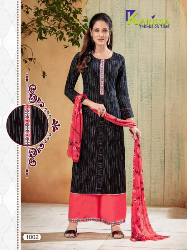 Karissa Paalav Latest Collection Ready Made Designer Casual Wear Plazzo Suit
