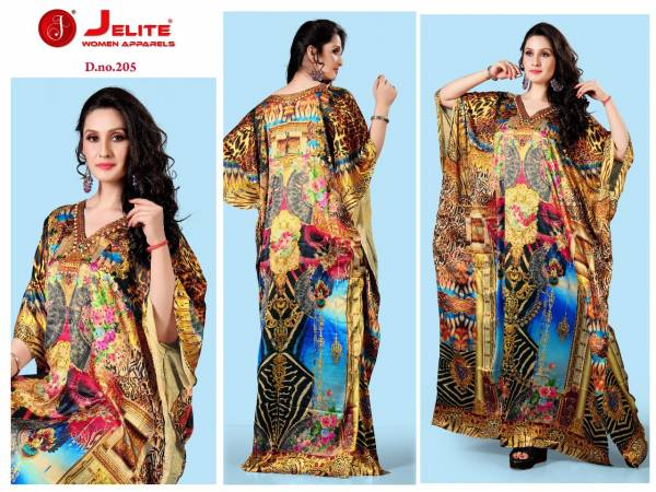 Jelite Unique Design Digital Printed Satin Kaftan Collection