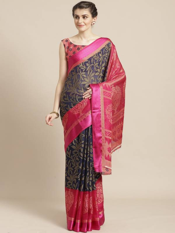Latest Designer Fancy Wear Brasso Saree Collection