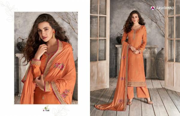Haseena New Launch Of Latest Designer Salwar Suit Collection With Embroidery Neck Design And Silky Georgette With Heavy Embroidery Work