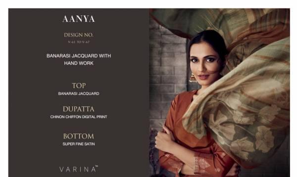 VARINA AANYA V-61 Latest Fancy Casual Wear Banarasi Jacquard With Hand Work digital Print Salwar Suit Collection