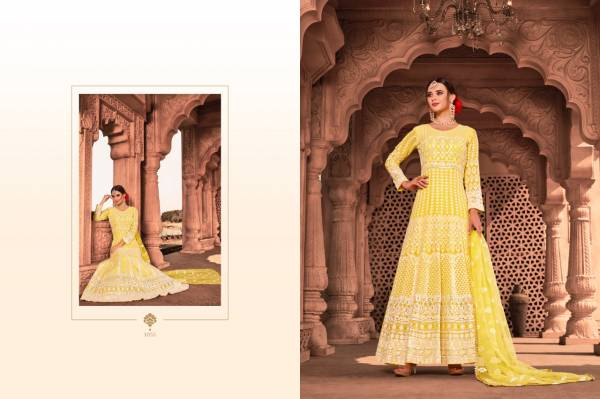 New Collection of Designer Party Wear Full Lucknowi Dress With Bordered Dupatta
