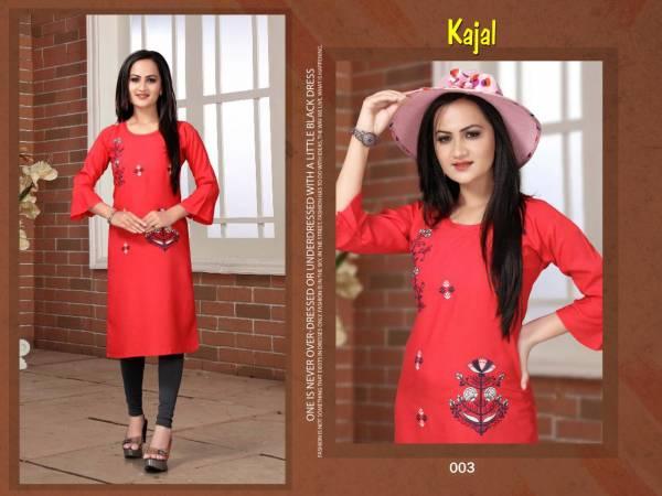 Trendy Aagya Kajal Ethnic Daily Wear Rayon Latest Designer Kurtis Collection