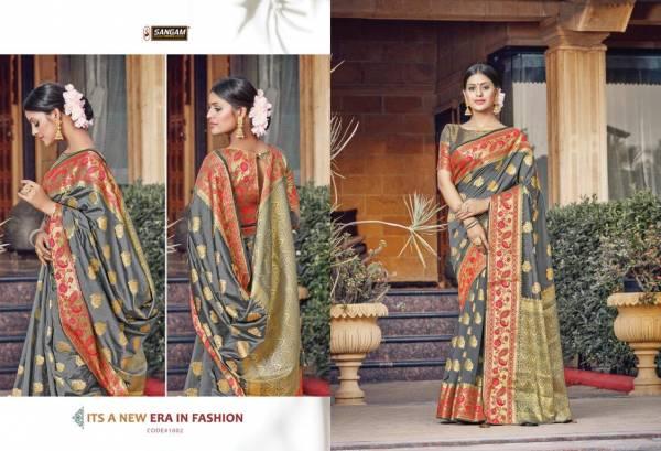 Sangam  Latest Fancy Designer Festive Wear Pure Silk Saree Collection