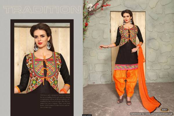 Latest Designer Embroidered Punjabi Dress Material With Nazmeen Dupatta
