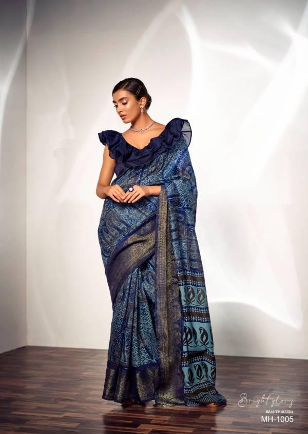 Sr Mahira Fancy Wear Pure Handlooms Printed Festive Wear Designer Saree Collection