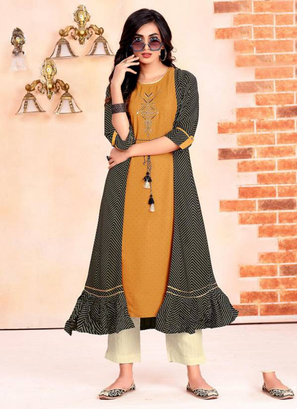 Heavy Rayon Stylist and fancy Kurtis With Plazzo, Pants and Sharara Collection