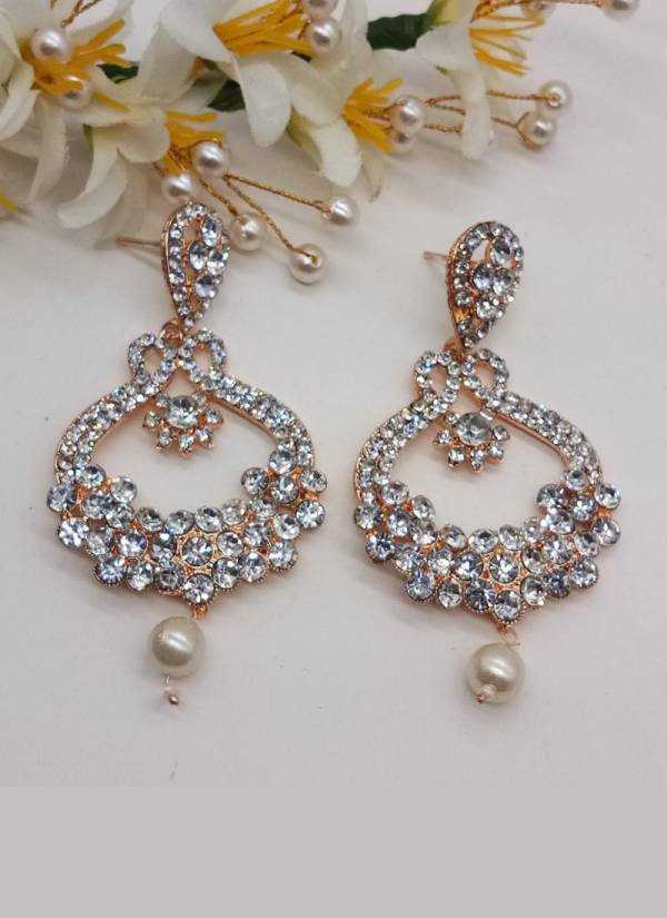 Fancy Party Wear And For Wedding Long Earrings Collection