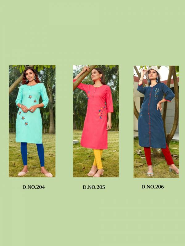 Poorvi Gunjan 2 Latest Feavy Designer Casual Wear Stylish Embroidery Kurtis Collection