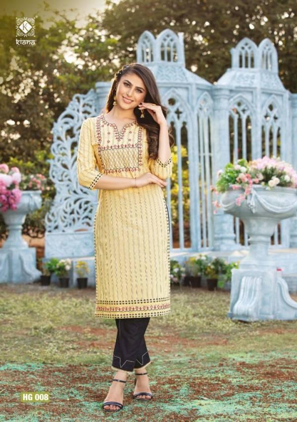 Kiana Hello Gorgeous Fancy Ethnic Wear Kurti With Bottom Collection