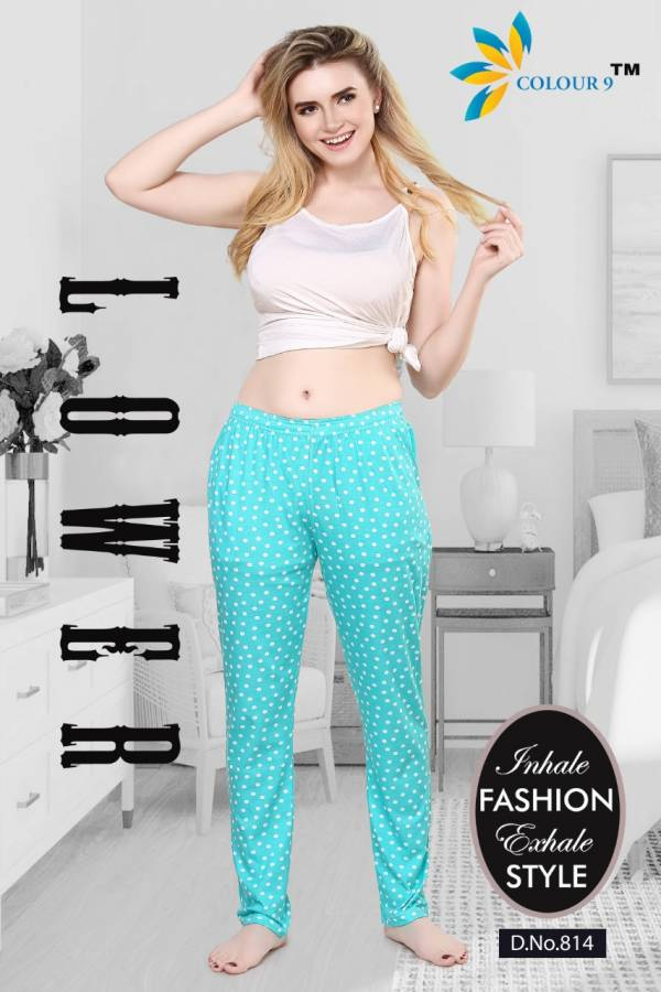 Colour 9 Comfortable Pajamas Latest Fancy Comfortable Hosiery Night Wear Collection