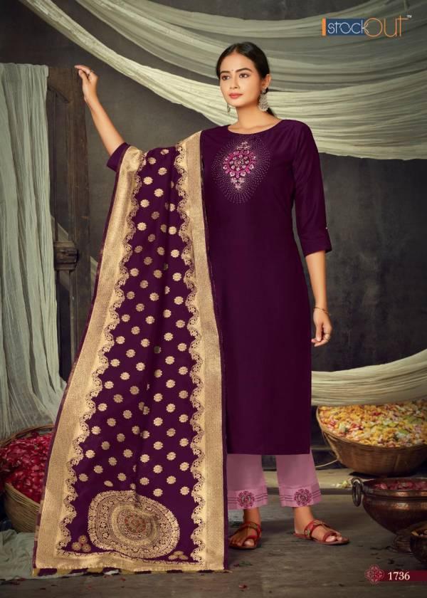 STOCK OUT MAYURI Latest Fancy Designer Festive Wear Jam Silk Bamber silk ????????? Work salwar Suit Collection