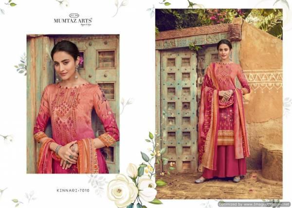 Mumtaz Art Kinnari Latest Designer Pure Jam Satin Digital Prints With Designer Embroidery Work Dress Material