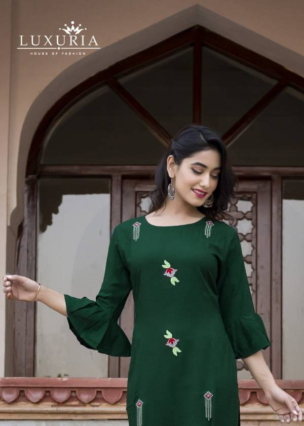 Luxuria Ocean 3 Latest Designer Embroidered Casual Wear Kurtis Collection
