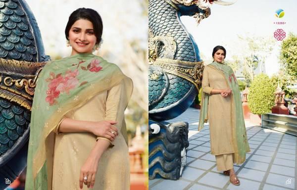 VINAY FASHION KERVIN - SEPHALI Fancy Festive Wear Fine Cotton Satin With Sequence Work Digital Printed Designer Salwar Suit Collection