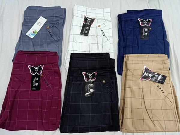 Checks Pents Strechable Check Jeggings Rich Look And High Demand, Superb Quality, Best Price & Satisfied Products Collections (Available Size-28 to 38)