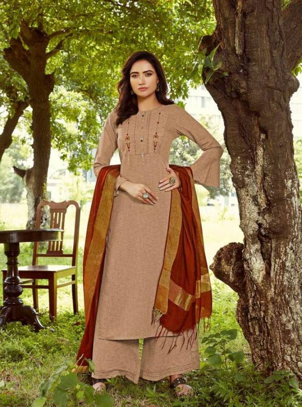 LYMI Launch Of New Designer Rayon Plazzo Pattern Salwar Suit With Embroidered Work And Banarasi Dupatta