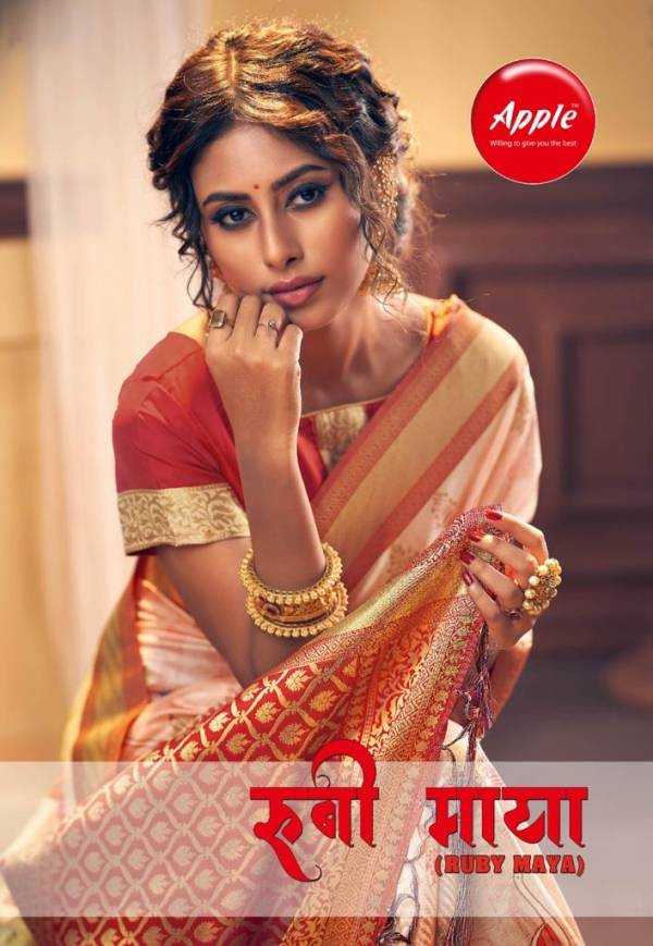 Apple Ruby Maya Presents Latest Collection Of Heavy Designer Party Wear Festive Wear Digital Printed Silk Saree