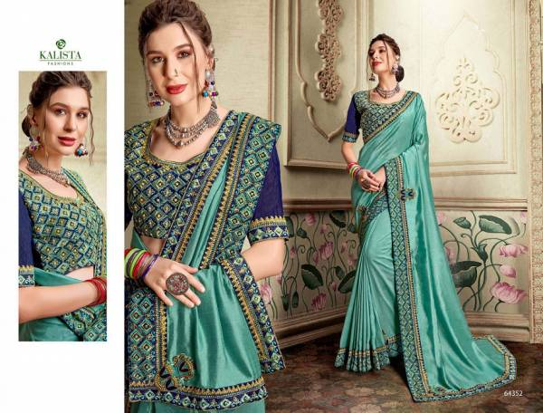 Kalista Century 2 Latest Fancy Designer Festive Wear Party Wear Vichitra Silk Saree Collection