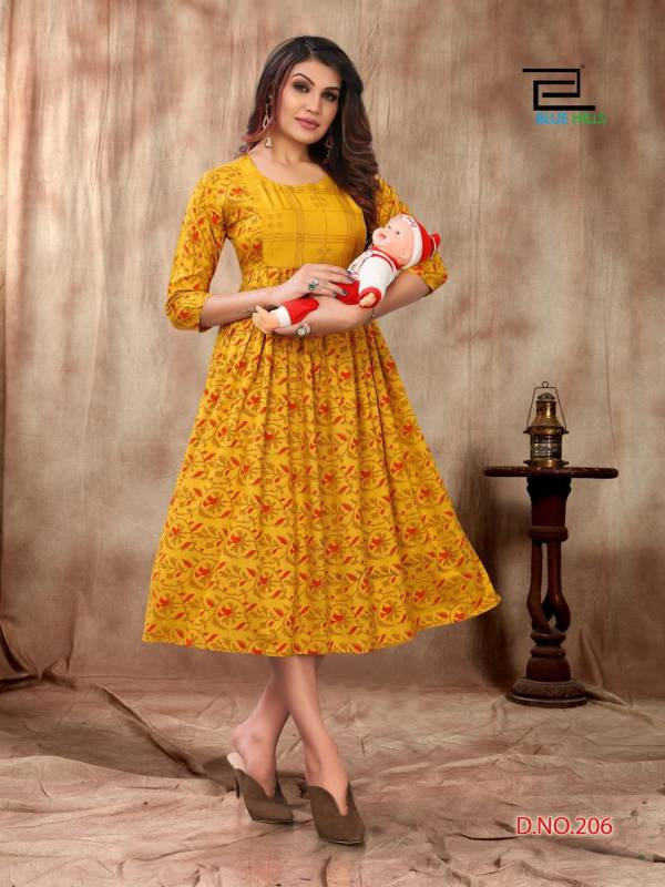 Blue Hills Good News 2 Latest fancy Regular Casual Wear Rayon Printed Kurtis Collection
