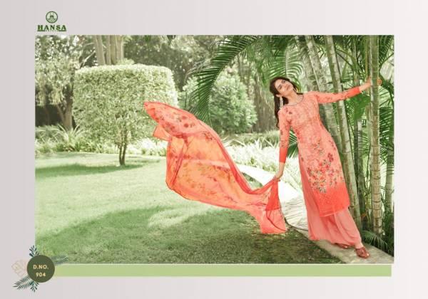 HANSA VANSHIKA Latest fancy Festive Wear Georgette Digital Print With Work Heavy Salwar Suit Collection
