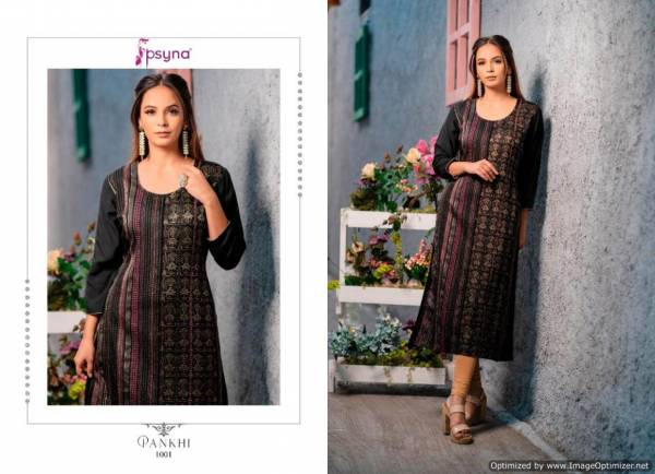 Psyna Pankhi Launch Of New Collection Of Latest Designer Printed Casual Wear Kurtis