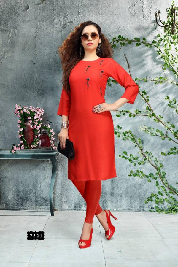 Ft Lotus Simple Latest Designer fancy Ethnic Regular Wear Kurtis Collection