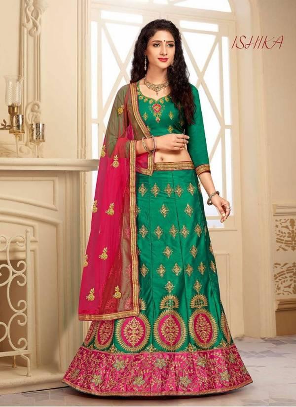 Saanchi Ishika Wedding Designer Bridle Embroidered Silk Lehenga Choli Collection