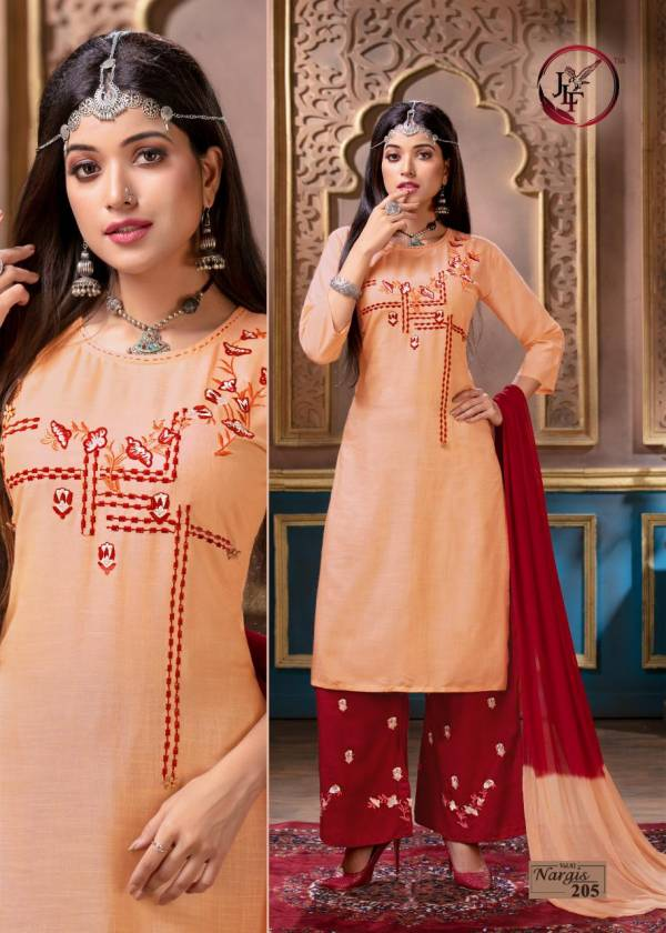 JLF Nargis Vol 2 Latest Designer Embroidery Work Ready Made Plazzo Salwar Suit With Nazneen Dupatta Collection