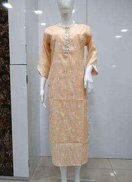 Kalar 1351 Round Neck Three Fourth Sleeves Cotton Kurtis Collection