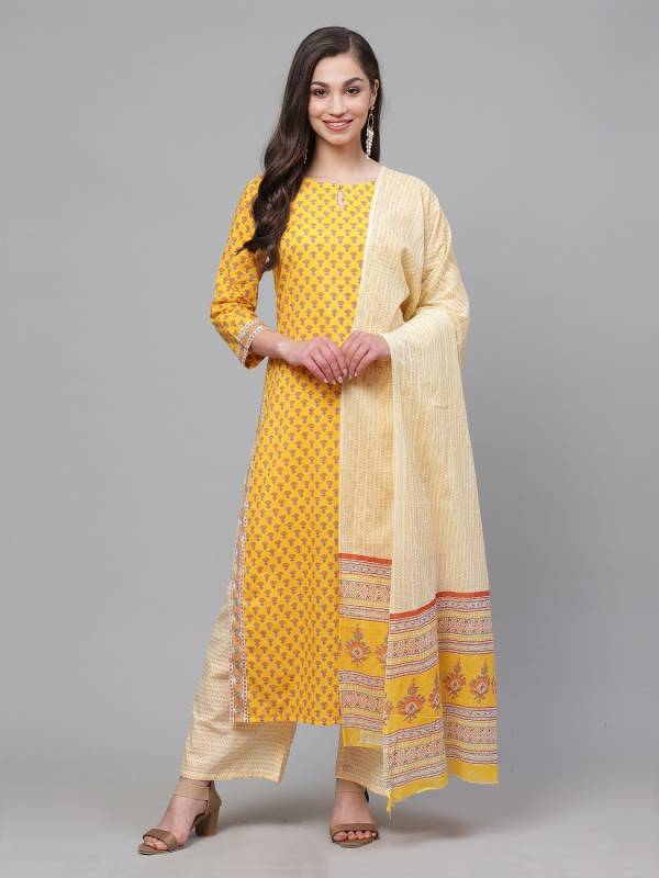 Crystal 1 Latest Designer Casual Wear Festive Wear Ready Made Kurti With Plazzo Style Bottom Collection