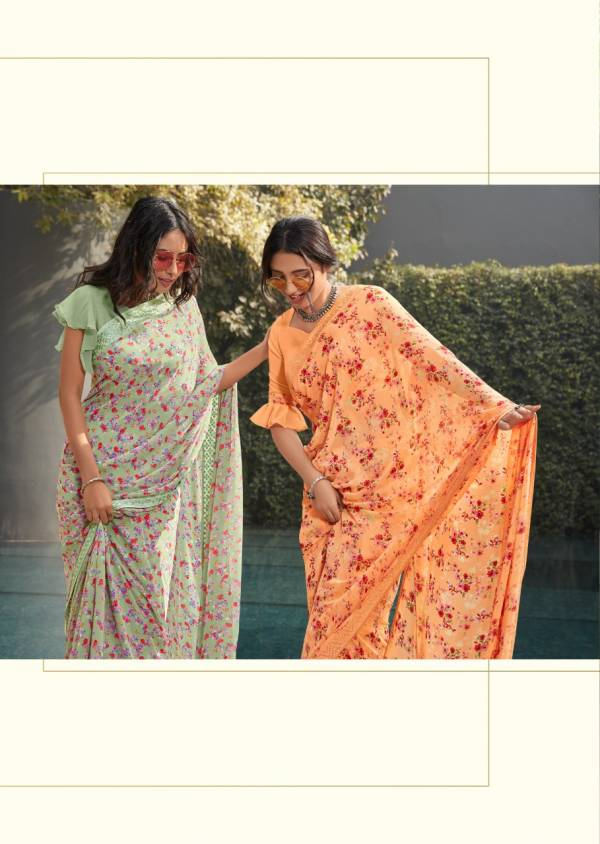 Kashvi Mirai Silk Latest Fancy Designer Casual Wear Weightless georgette Printed Sarees Collection
