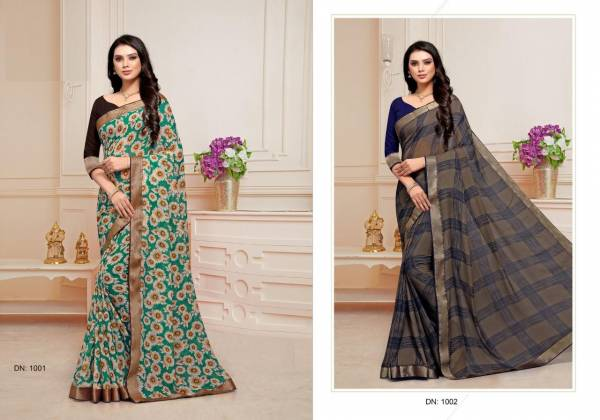 Mintorsi Designer Bridal Georgette with Banarsi lace and blouse with Manipuri silk Sarees Collection
