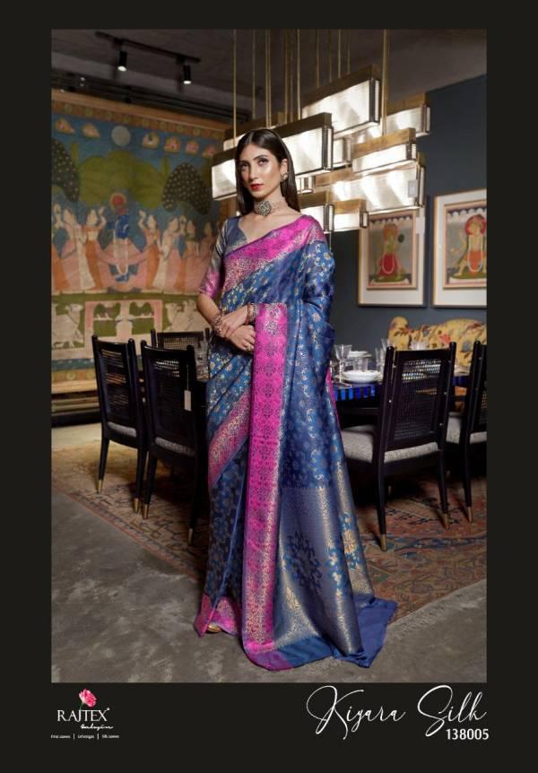 Rajtex Kiyara Latest Fancy Heavy Designer Soft Weaving Silk Festive Wear Saree Collection