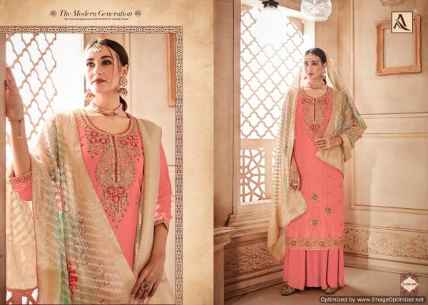 Alok Kesari Latest Designer Heavy Fancy Festive Wear Dress Material Collection With Digital Print with Four Side Piping Lace Dupatta