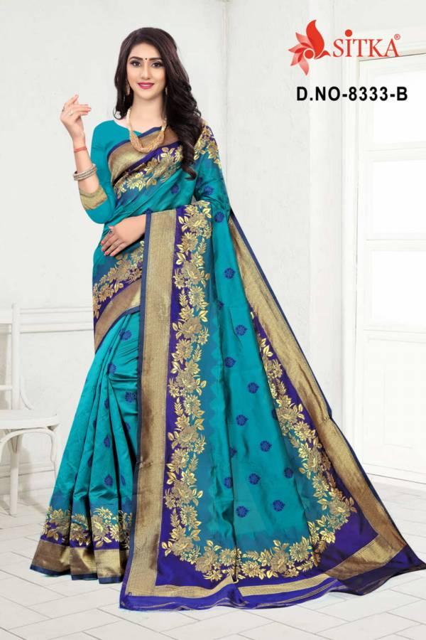 Sargam 8333 Latest Festival Wear Handloom Cotton Silk Designer Saree Collection