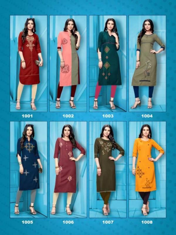 Dikhsha Livaa New Designer Daily Wear Embroidery Work Kurtis Collection