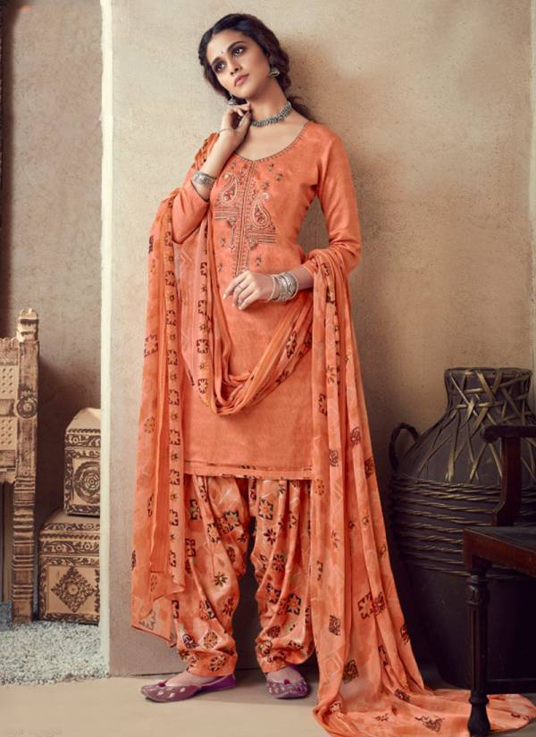 Nazpreet designer Embroidered Pure Jam Cotton Party Wedar Patiala Suits Collection 636-001 To 636-008