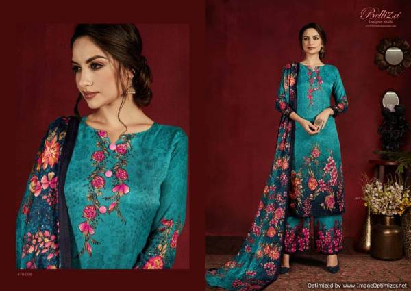 Belliza Nazakat Latest Daily Wear Printed Pure Pashmina Dress Material Collection