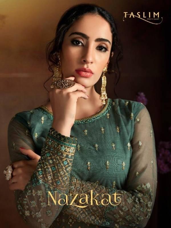 Taslim Nazakat Presents Latest Designer Exclusive Salwar Suit Chiffon With Jacquard Lace Dupatta