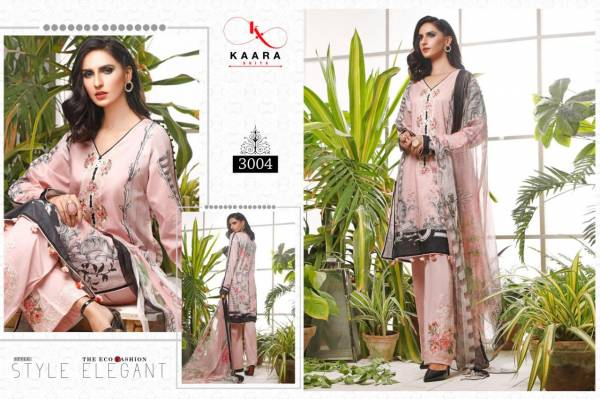 KAARA Firdous Lawn Collection Vol-3 Pure Cotton digital Print With Embroidery Work Designer Pakistani Dress Collections