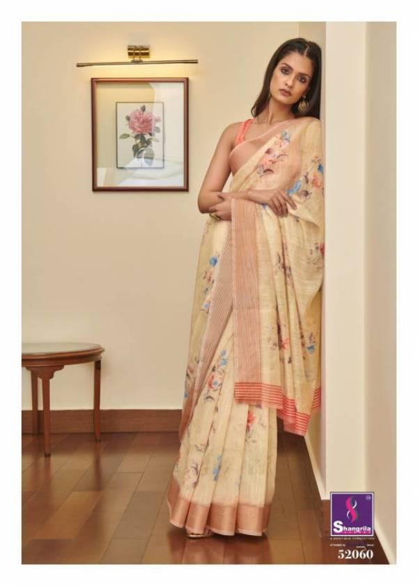 Shangrila Jaipuri Linen Vol 4 Latest Designer Printed Linen Cotton Casual Wear Saree Collection