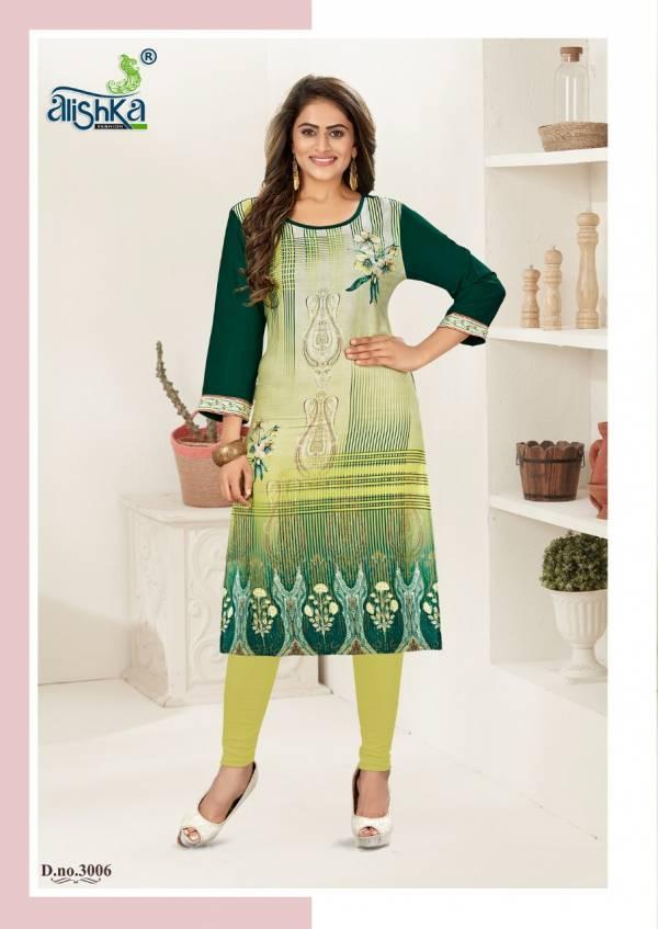 Alishka Beliza 3 New Designer Printed Rayon And Crape Kurtis Collection