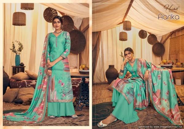 Harshit Aarika Latest Designer Pure Wool Pashmina Print with Swarovski Diamond Work Dress Material Collection