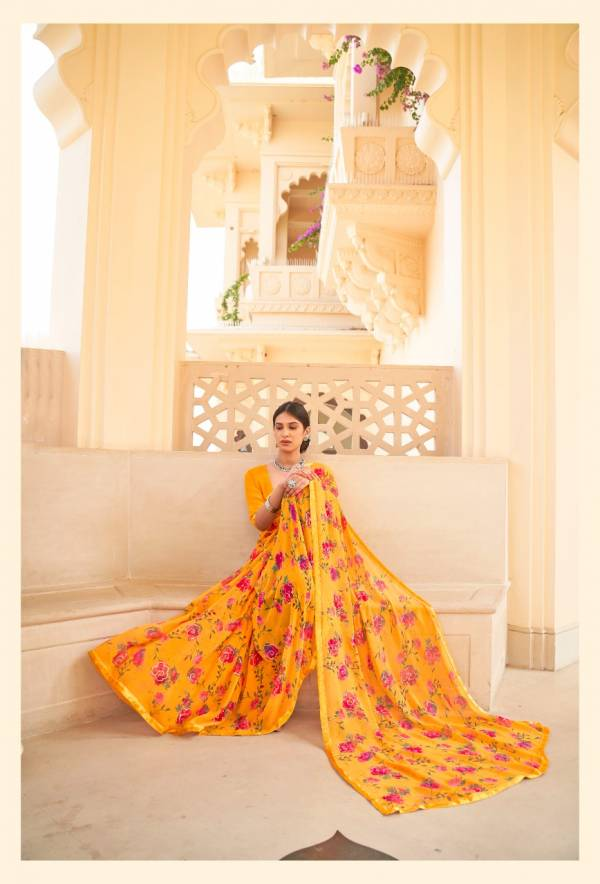 KASHVI NALANDA Fancy Casual Wear Georgette With Foil Printed Saree Collection